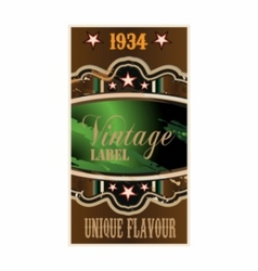 Retro vintage label vector image