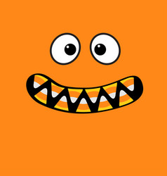 scary monster face emotions vampire tooth fang vector image vector image