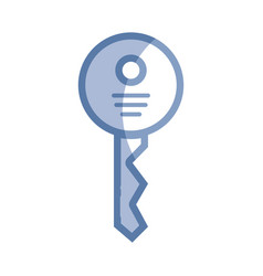 Silhouette security key icon to web protection vector