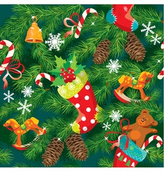 X-mas and New Year background vector image vector image