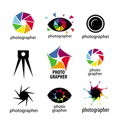Collection of logos for photographers and photo vector