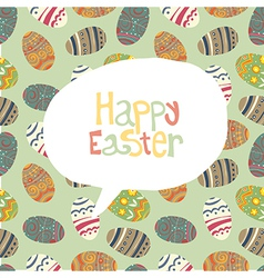 easter greeting card retro vector image vector image