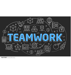 lines template teamwork vector image vector image