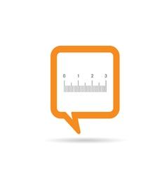 Square orange speech bubble with straightedge icon vector
