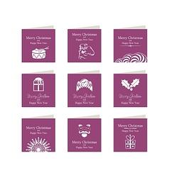 Christmas Mini Cards Set vector image vector image