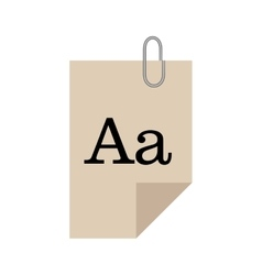 paper docuemnt text with clip vector image vector image
