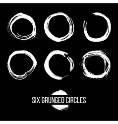 Set of Grunged Circles vector image