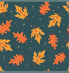 simple flat leaves seamless pattern vector image