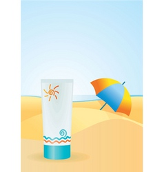 sun cream vector image
