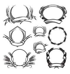 wheat icon set vector image vector image