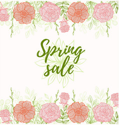 background for spring sale vector image vector image