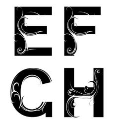 Decorative letter shapes vector