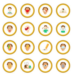 stress icon circle vector image
