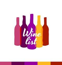 Wine list logo template Menu title decoration vector image
