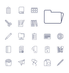 22 paper icons vector