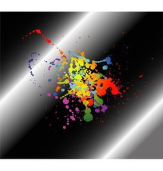 Abstract artistic black Background of colorful vector