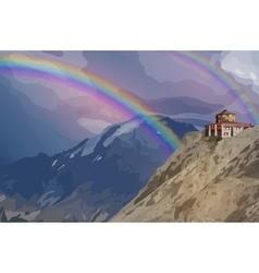 Alps high mountains vector image