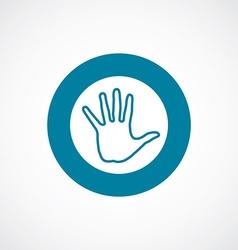 arm icon bold blue circle border vector image