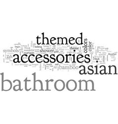 Asian themed bathroom accessories vector