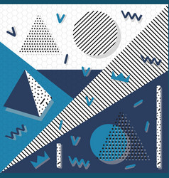 background geometric shapes memphis vector image