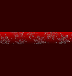 banner large transparent christmas snowflakes vector image