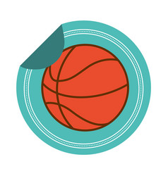 basketball ball sticker vector image