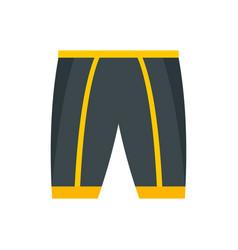Bike shorts icon flat style vector