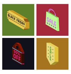 black friday calligraphic designs retro style vector image