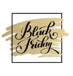black friday design on gold sale discount vector image