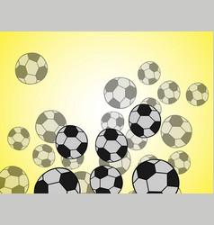 Black grunge soccer ball on white vector