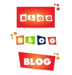Blog word text icon vector