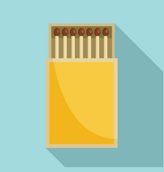 box of matches icon flat style vector image