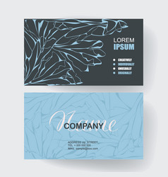 business cards with web pattern design vector image vector image