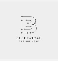 Connect or electrical b logo design icon element vector
