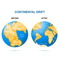 Continental drift vector image
