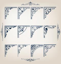 Corners design vector