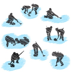 curling sketch vector image