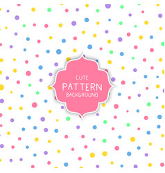 cute circle pattern background vector image