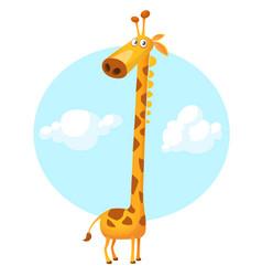 cute funny cartoon giraffe vector image