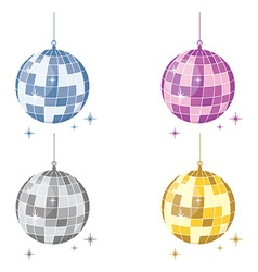 Disco ball sest vector image
