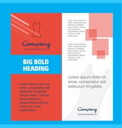 dress company brochure title page design company vector image