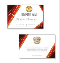 Elegant business card design template 06 vector