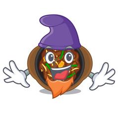 Elf bulgogi is served on mascot plate vector