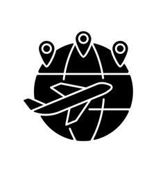Excellent connectivity black glyph icon vector