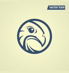 Falcon in circle vector