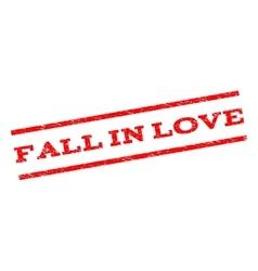 Fall In Love Watermark Stamp vector