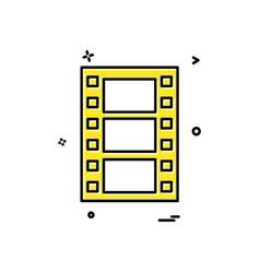 film icon design vector image