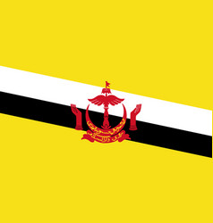 Flag of brunei in official rate and colors vector