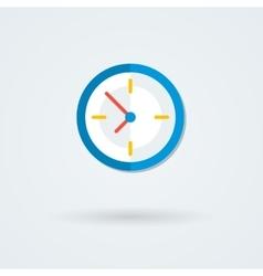 Flat clock icon Simple vector image