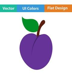 Flat design icon of Plum vector